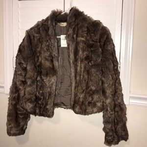 Faux fur lady jacket